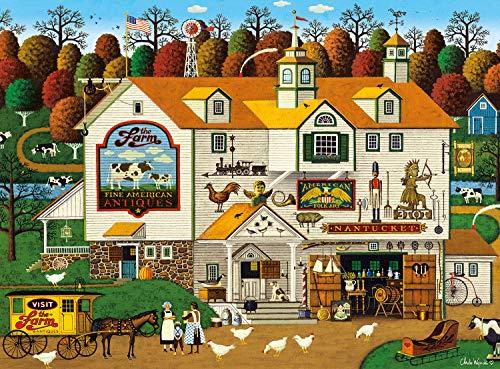 Buffalo Games - Charles Wysocki - The Farm - 1000 Piece Jigsaw Puzzle (1000 Piece Large Puzzle)