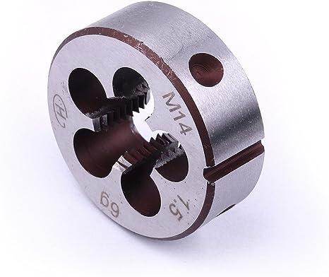 1pc M14 X 1.25mm Die and 1pc HSS Machine M14 X 1.25mm Plug Tap Threading Tool