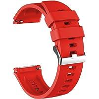Microsonic Huawei Watch GT2 Pro Kordon, Silicone RapidBands Kırmızı