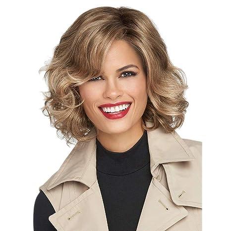 FZHI-JIAFA Pelucas Damas de Mujer Corto de Oro Cury Hair ...