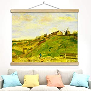 DengRen Abstract Farmhouse Natural Sketch Oil Paintings by Van Gogh - Floral Giclee Canvas Prints Artwork Wall Art for Home Decor - Home Art Ready to Hang Satisfactory Service #5 32x24in(80x60cm)