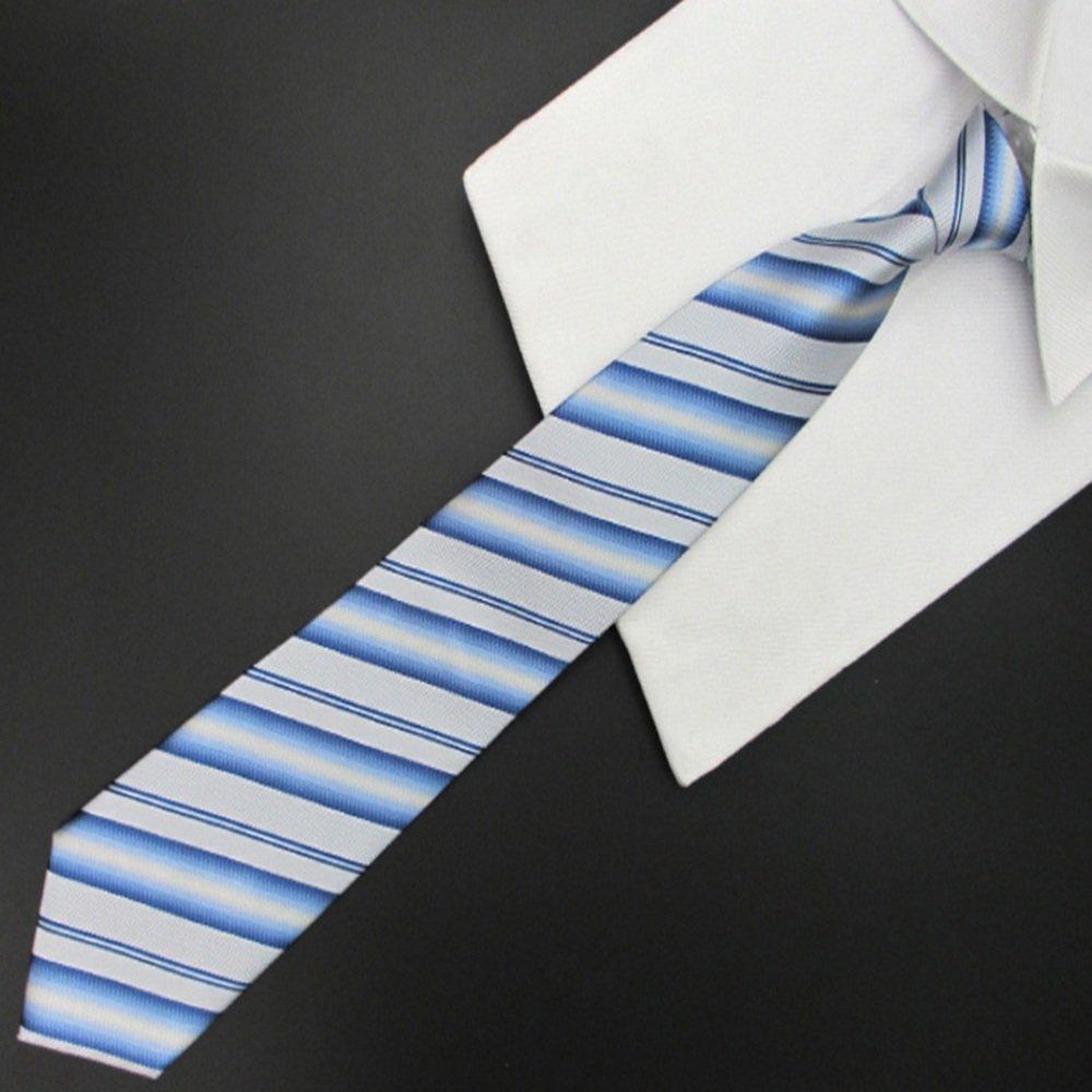 Easy Go Shopping Corbata de Rayas de Color Azul Claro y Blanco ...