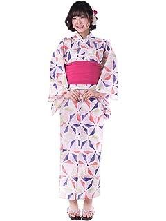 925b5a267 Amazon.com: sakura Women Japanese Yukata Pre tied obi belt set ...