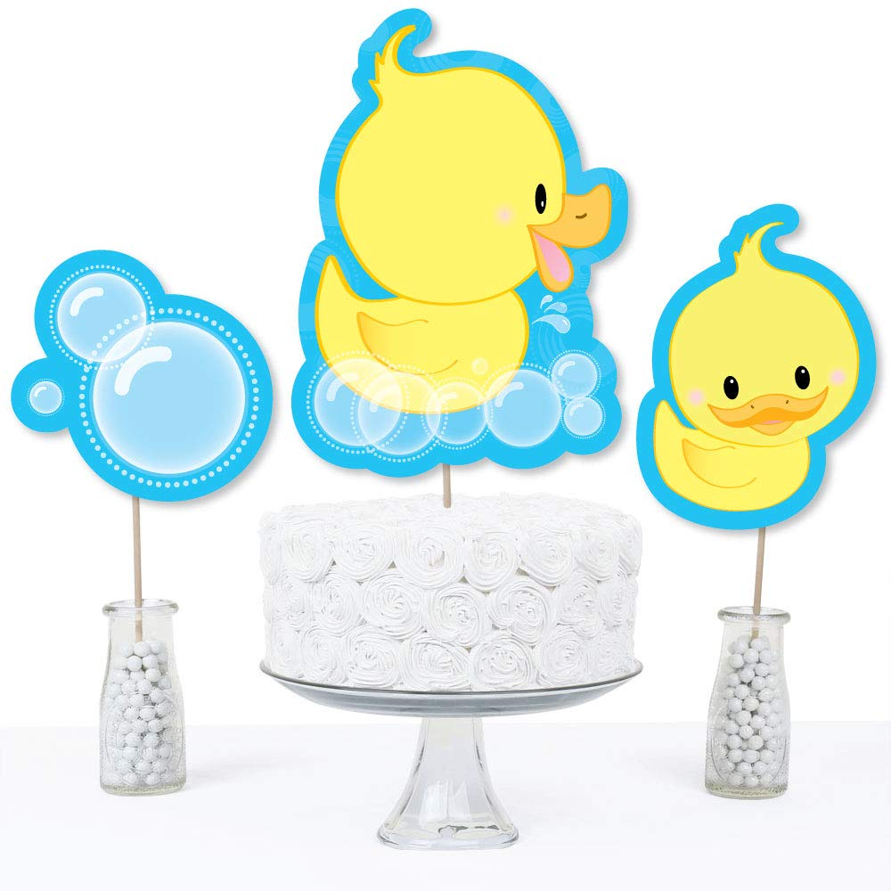 Set of 15 Table Toppers Baby Shower or Birthday Party Centerpiece Sticks Ducky Duck