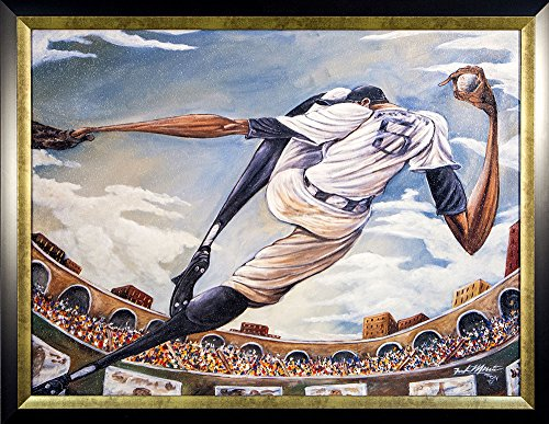 Art Closeout! Framed Baseball The Pitch, Artist Morrison, In Frame