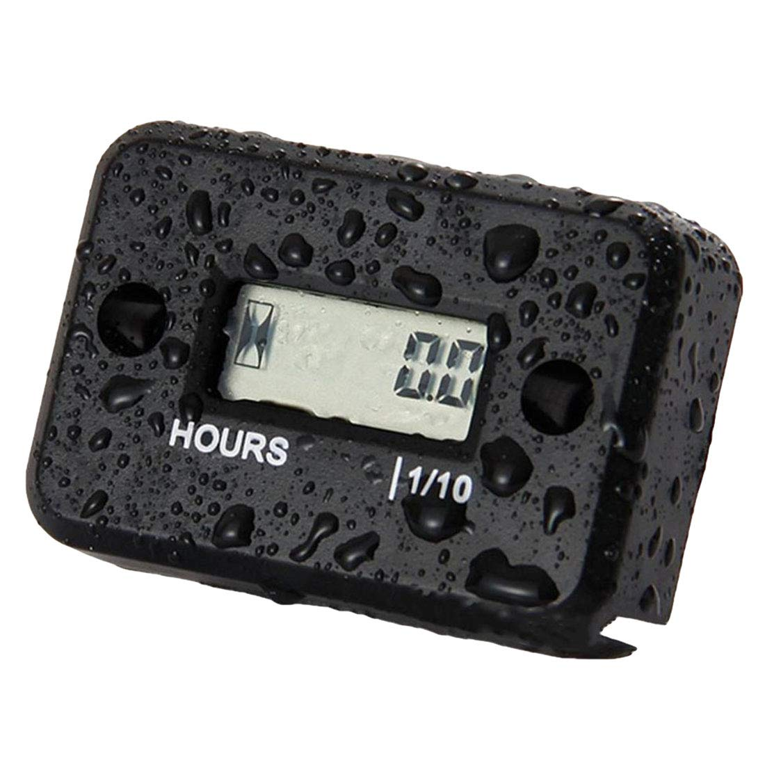 ihen-Tech Portable Digital Tach Hour Meter Tachometer Gauge LCD for Gas Engine Snowmobile ATV Motorcycle Bike