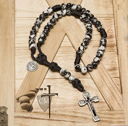 Dragon Slayer Stone Paracord Rosary - Catholic Milestones