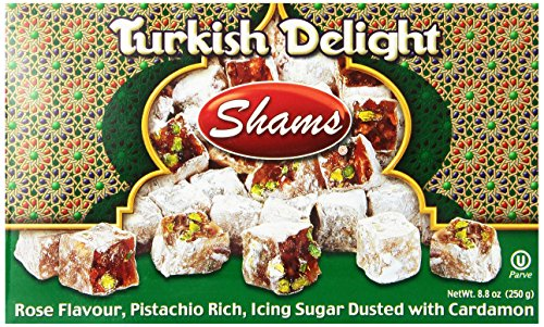 (Shams Turkish Delight, Rose/Pistachio/Cardamom, 8.8-Ounce Box (Pack of 1))