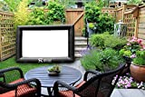 Inflatable Mini Movie Screen - Portable Indoor Outdoor Projector Screen (9ft diagonal) Package With Rope, Blower + Tent Stakes By Holiday Styling
