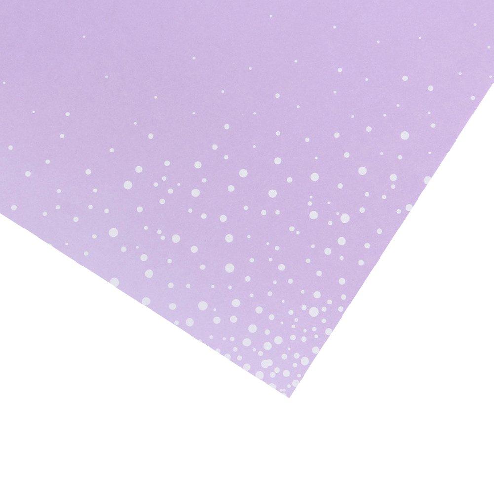 Flower Wrapping Paper Floral BouquetGift Wrap Color Tissue Paper Multi Colors 20 Counts,Lavender