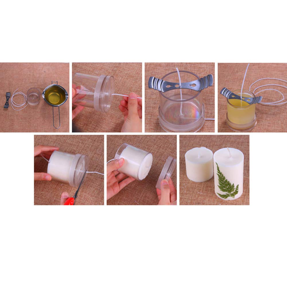 Lzttyee 10Pcs Clear Acrylic Candle Molds Set DIY Candle Making Supplies Casting Molds Kit for Birthday/Christmas/Valentine's Day by Lzttyee (Image #7)