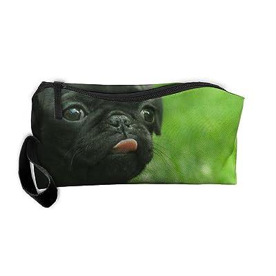 EWSDa Black Pug.jpg Cosmetic Bag Unisex Multifunctional Receiving Bag