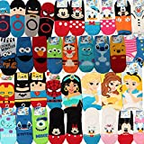 #8: Disney Pixar Licensed Girls Socks Crew Ankle No Show Boy(Toddler,Little Kid,Big Kids)