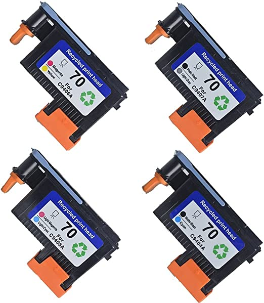 ouguan Remanufactured Print Head For HP 70 C9404 A C9405 A C9406 A ...