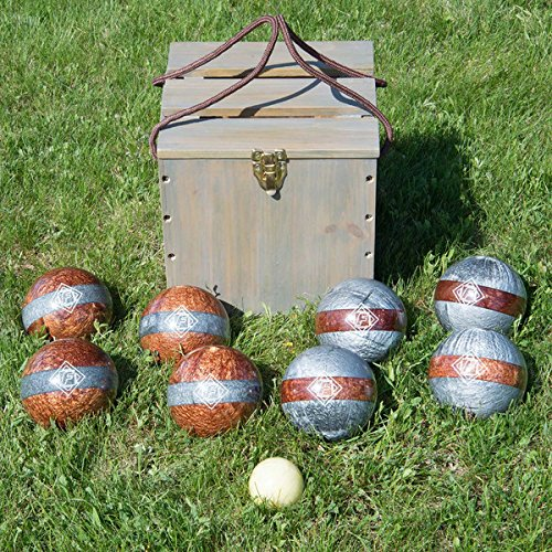 (Bocce Set Game Sport Equipment 113mm Balls Case 10 Piece Tournament Backyard Fun)