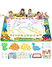 Jasonwell Aqua Magic Doodle Mat - 150x100cm XXX-Large Water Drawing Doodling Mat Dinosaur Painting Writing Board Coloring Mat Educational Toy Gift for Kids Toddlers Age 3 4 5 6 7 8 Year Old Girls Boys