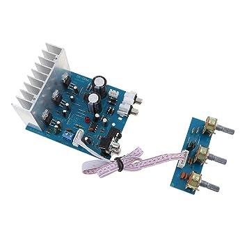 IPOTCH 2.1 Canales Tablero de Amplificadores de Potencia Placa del Módulo para Altavoz del Sistema de