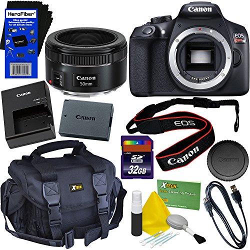 Canon EOS Rebel T6 Digital SLR Camera Body + Canon EF 50mm f