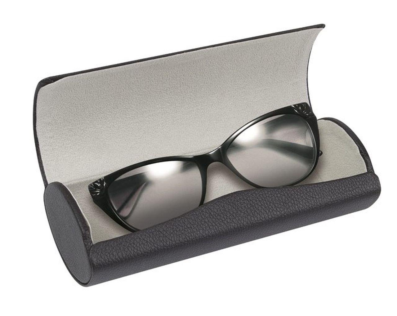 Ten Estuche por Gafas Negro con Interior Gris cod.EL27125 cm 7, 5x17x5h by Varotto & Co.