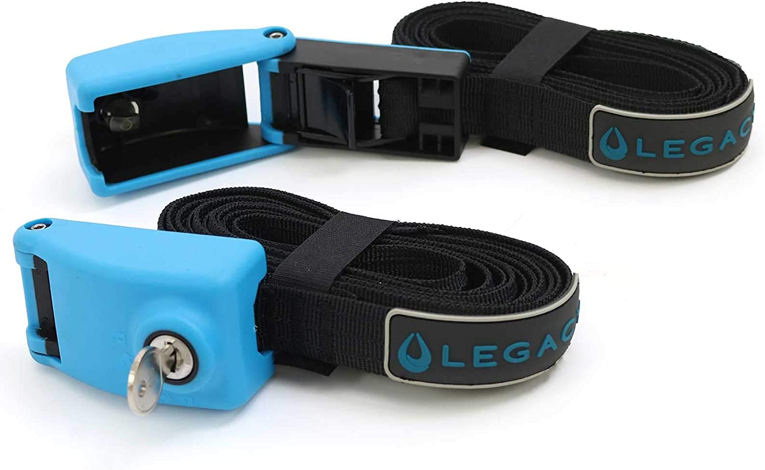 Legacy Watersports Locking Tie Down Straps with Reinforced Straps /& Lockable Buckle Surfboard Kayak 3m or 5m