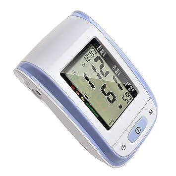 Tochange automático Inteligente Tensiómetro Monitor LCD esfigmomanómetro Digital con función Voz Personas Mayores Salud Regalo de Salud, Morado: Amazon.es: ...