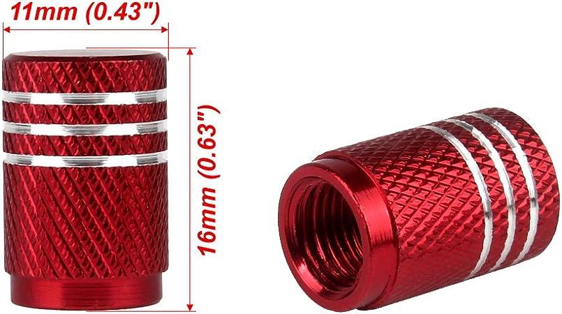4 x BLU Qualità in alluminio metallo zigrinato Ruote Pneumatici Valvola Polvere Tappi AUTO MOTO