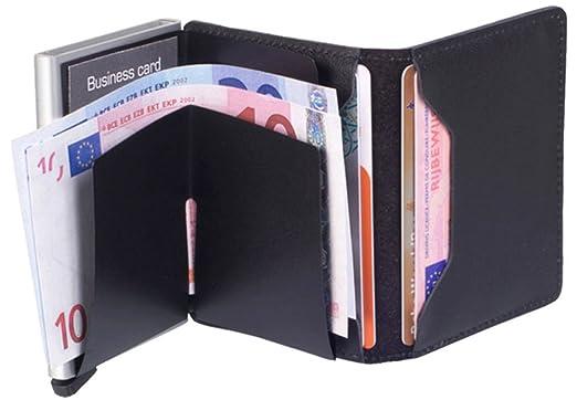 Secrid Slimwallet - Cartera de piel con tarjetero (protección de tarjetas con identificación por radiofrecuencia), color negro: Amazon.es: Equipaje