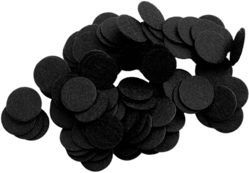 Playfully Ever After 1.5 Inch Black 94pc Felt Circles