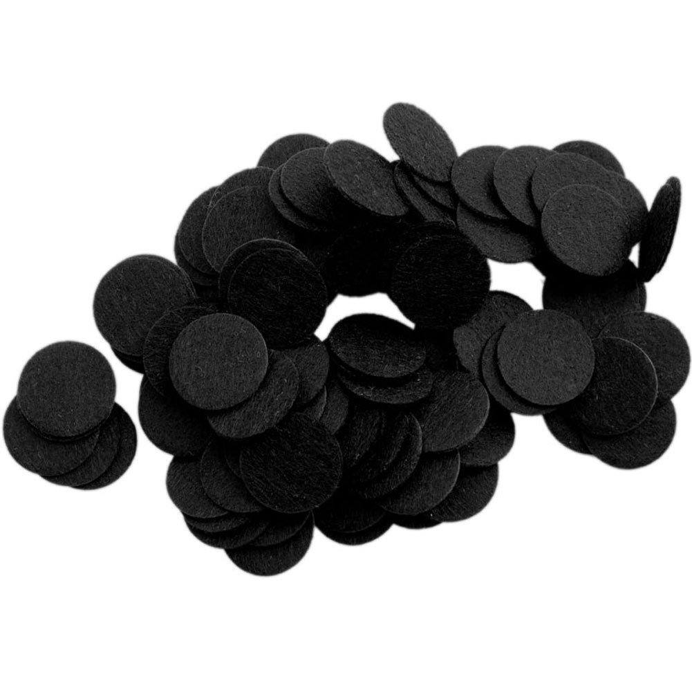 Playfully Ever After 1 Inch Black 100pc Stiff Felt Circles PEA-FELT-1inSTF-100Black