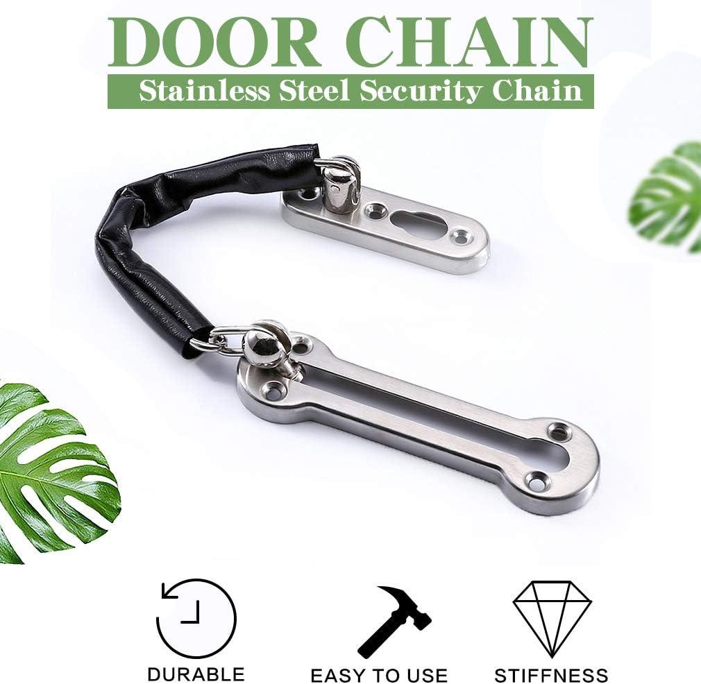 cerradura de seguridad de acero inoxidable con tornillos para todo tipo de puertas internas Astarye 2 paquetes de cerradura de cadena para puerta
