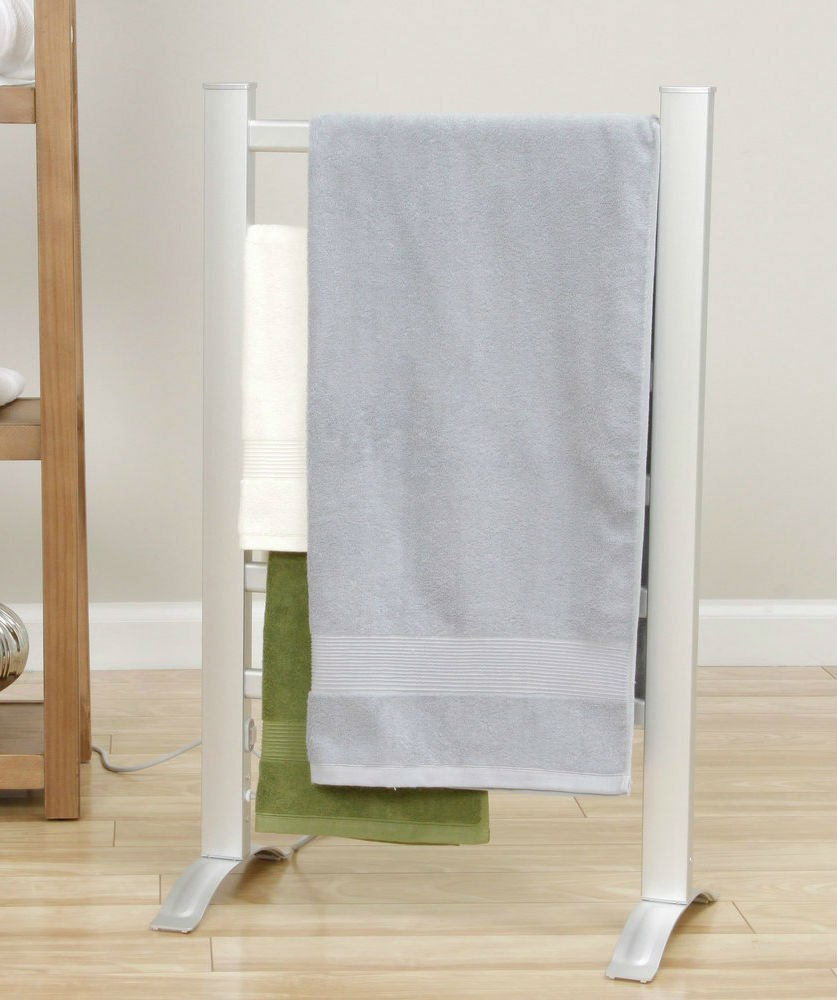 Towel Warmer Bathroom Accessories Rack For Delicates,Dish Towels,Mats,Blankets And Eliminates Mold And Mildew Growth-Freestand Or Wall Mounted by WorldGoodsCorp