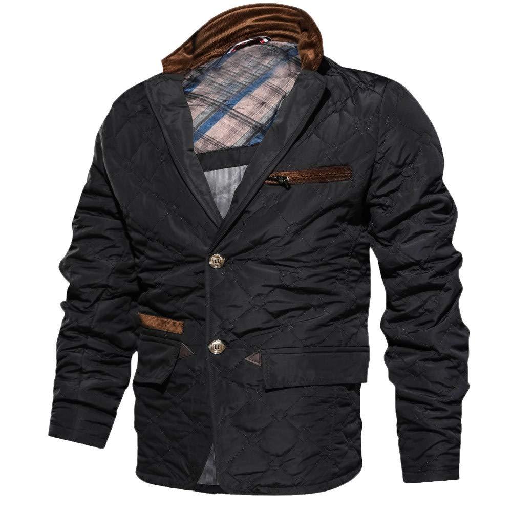 YKARITIANNA Men Solid Comfy Outdoors Anorak Jackets Slim Fit Casual Turn-Down Collar Zipper Long Sleeve Outwear Top Coat