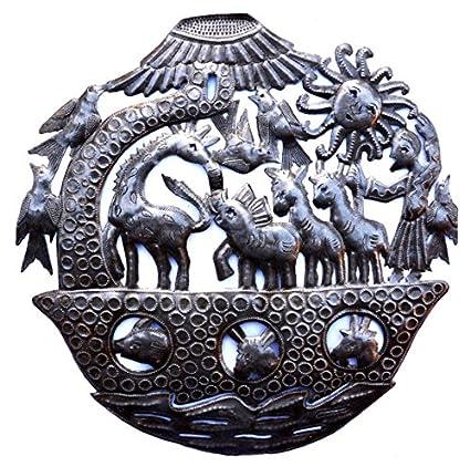 Noah Ark Wall Sculpture, Metal Wall Art, Fair Trade From Haiti, 15