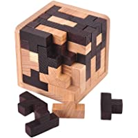FnieYxiu Educational Toys, Wooden Brain Teaser Chinese Puzzle Kongming Luban Lock Adult Kids Game Toy Gift