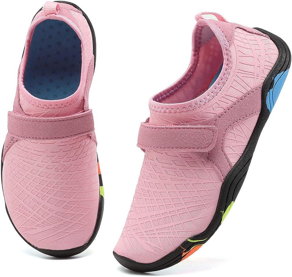 Boys Girls Water Shoes Aqua Sock Lightweight Comfort Sole Easy Size US 1 2 3 4