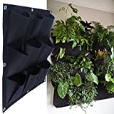 MEIWO 9 Pocket Hanging Vertical Garden Wall Planter For Yard Garden Home Decoration