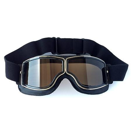 HONCENMAX Gafas de Moto Retro Vintage Gafas de Protección Gafas, Estilo Vintage, para Deportes al Aire Libre - Retro Gafas Moto Mascara Vintage ...