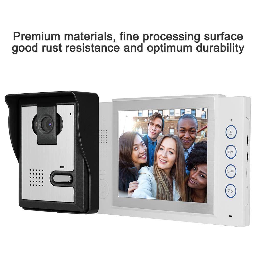 Sistema de desbloqueo de Seguridad con Kit de intercomunicador con Cable de 8 Pulgadas Wandisy Videoportero con Pantalla LCD Reino Unido