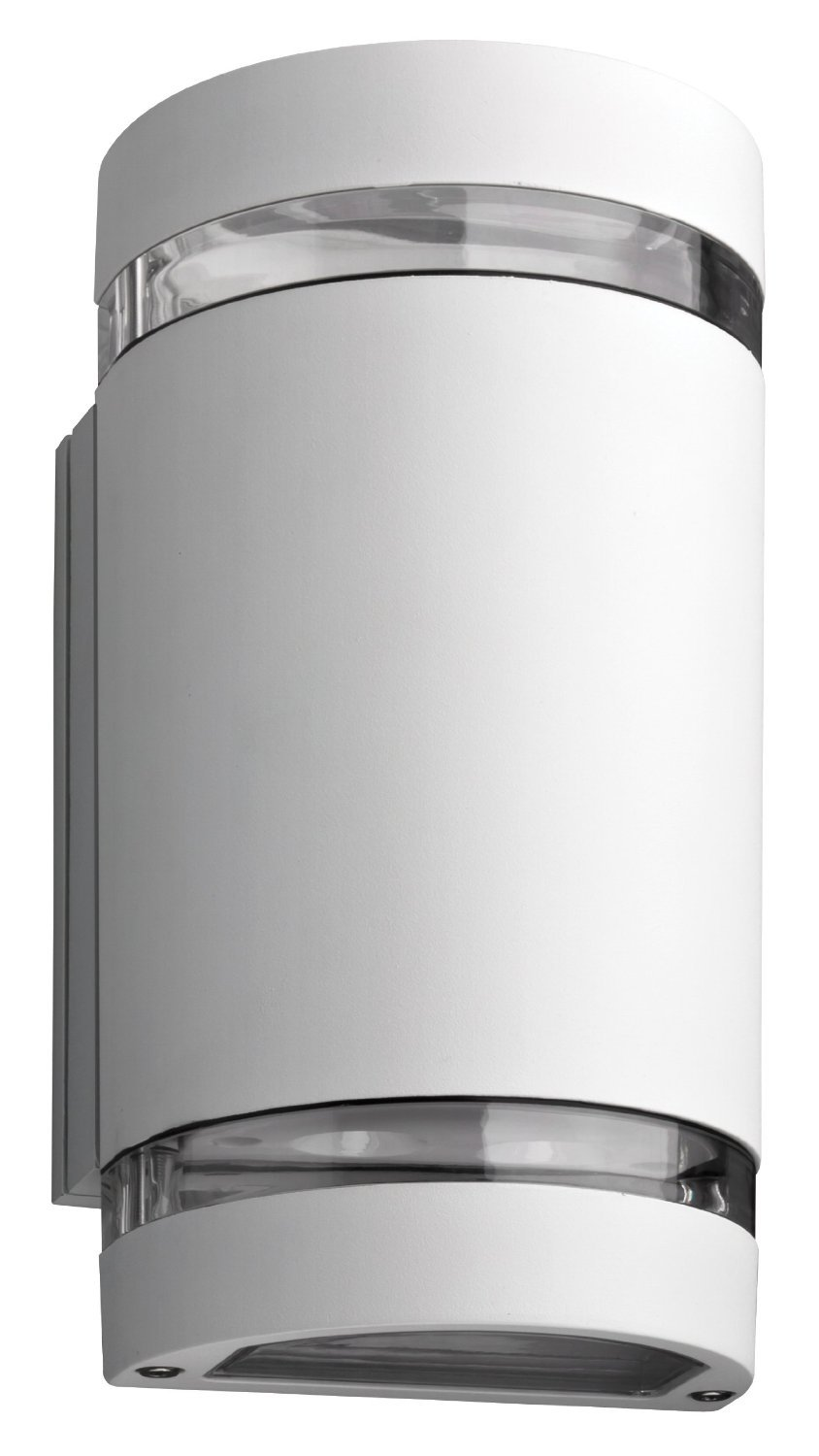 Lithonia Lighting OLLWU WH M6 Outdoor Up and Down LED Wall Cylinder, 4000K, 14 Watt, Black - Cast-aluminum housing with corrosion-resistant paint in white Polycarbonate lens protects the LED from moisture and dirt 4000K CCT LEDs - patio, outdoor-lights, outdoor-decor - 61l3whyOooL -