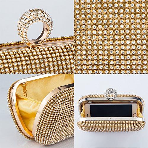 Bagood - Cartera de mano para mujer dorado