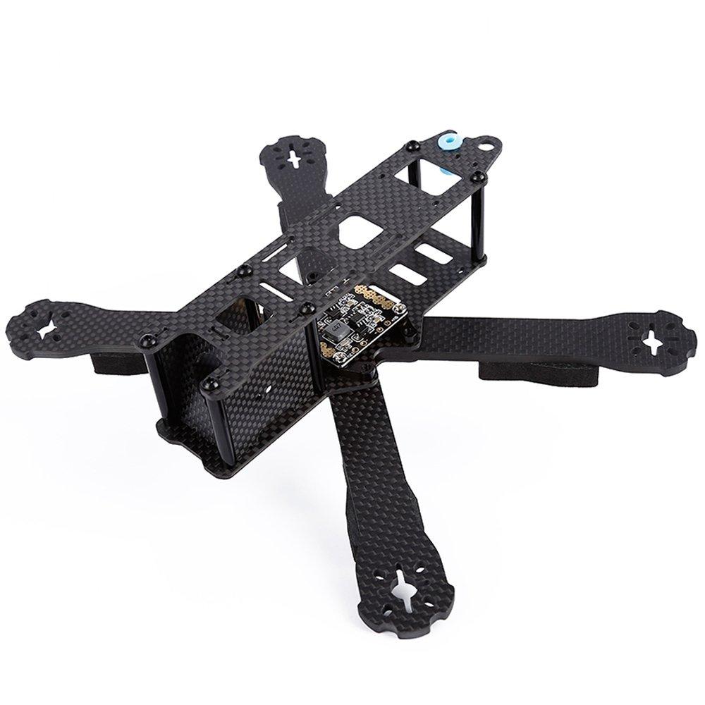 Elisona-DIY Full Carbon Fiber Quad Frame FPV Quadcopter Frame Part with 4mm Removable Arms