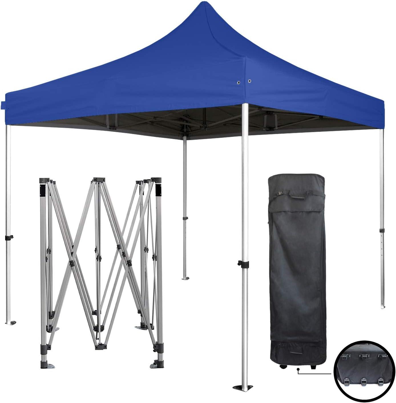 GREADEN - Tienda de campaña plegable 3 x 3 m Super - Tubo 40 mm en aluminio - lona 300 G/m2 - azul marino - Barnum plegable - GR-1FB33300PP8: Amazon.es: Jardín