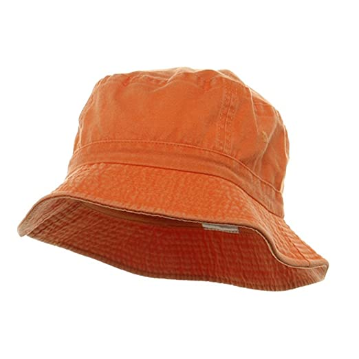81a7db44b8d Cameo Pigment Dyed Bucket Hat-Orange at Amazon Men s Clothing store  Cotton  Hats