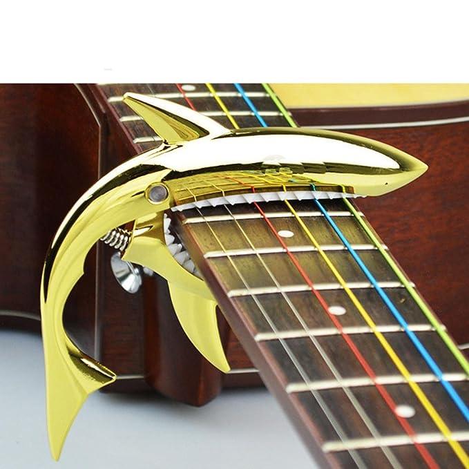 Gaddrt - Abrazadera para guitarra de cambio rápido con forma de tiburón, mi (E): Amazon.es: Instrumentos musicales