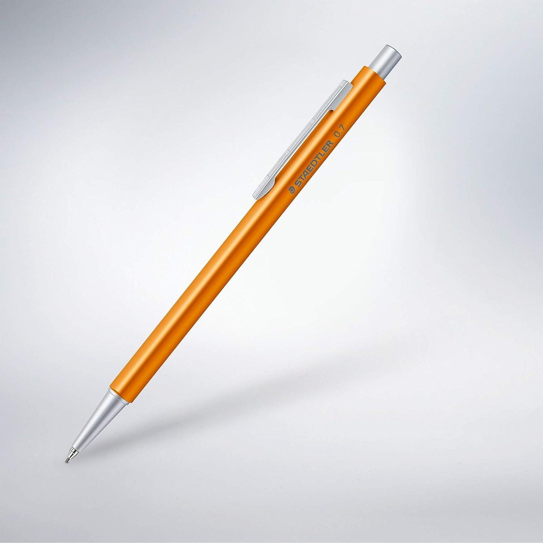 Staedtler Druckbleistift Organizer Pen orange hochwertiger Druckbleistift aus Aluminium, ideal f/ür Zeitplaner, 0,7 mm Feinmine Marsmicro, H/ärtegrad HB, Radiertip, 9POP40407 ST