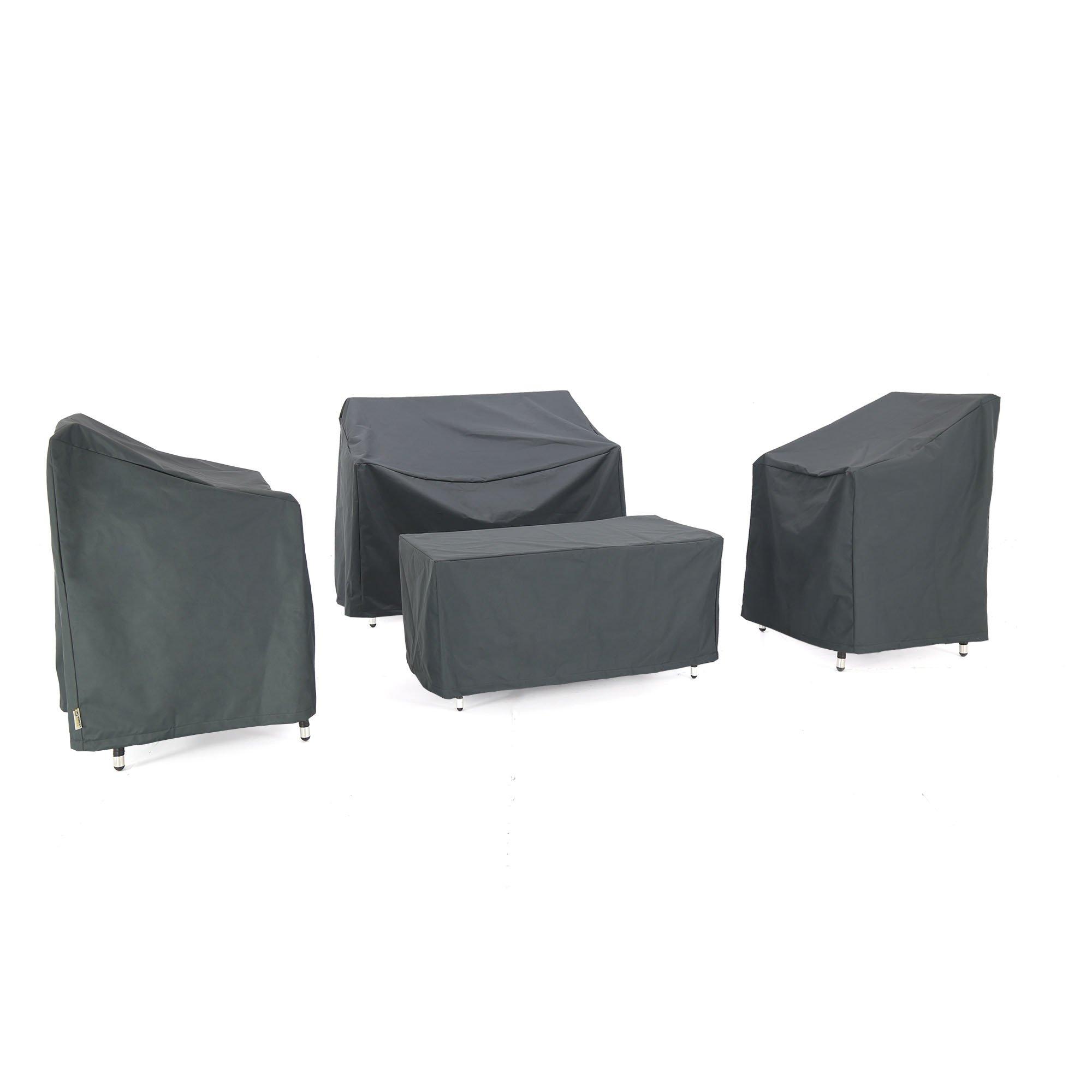 Baner Garden N68 4-piece Outdoor Veranda Patio Garden Furniture Cover Set with Durable and Water Resistant Fabric