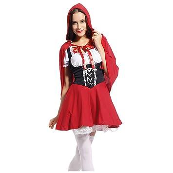 Meloo Damen Marchen Kostum Reizvolle Rotkappchen Kleider Fasching