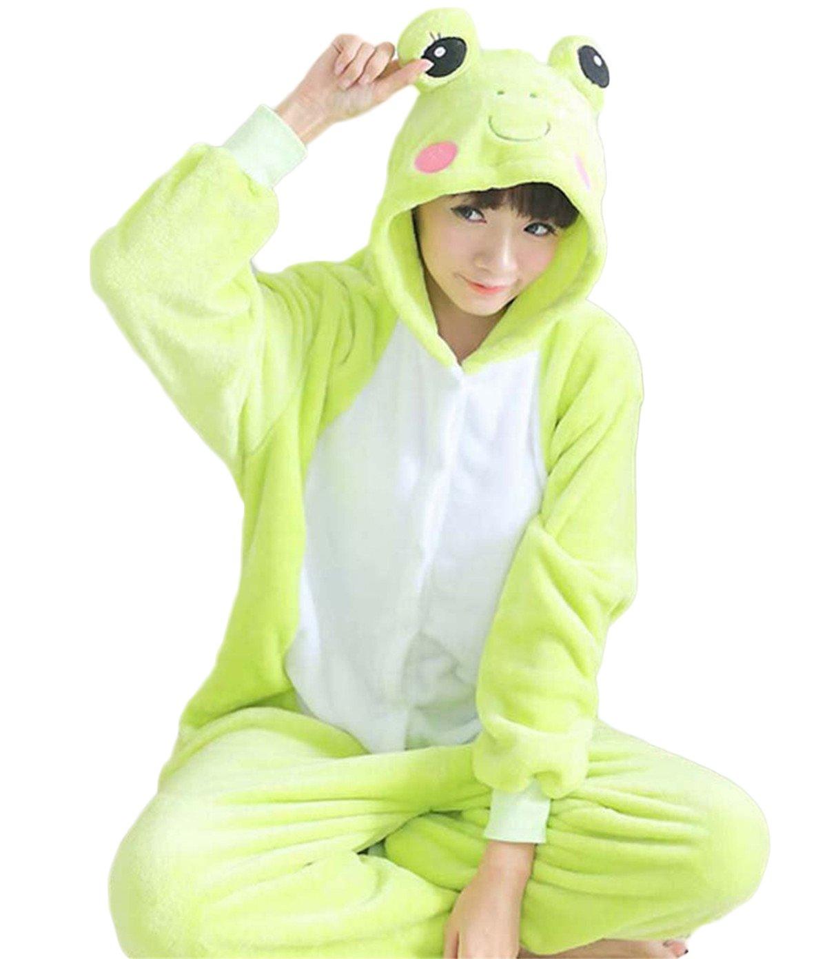 Unisex Kigurumi adulto Animal Cosplay disfraz pijama Onesies Pijamas, Rana, small: Amazon.es: Hogar