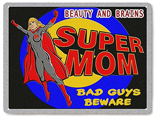 Comic Costumes For Easy Con Make To (superman batman supergirl metal sign / funny Baby nursery new mom Wall Decor)