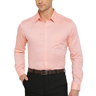 Jagarwal Men Peach Color Formal Shirt: Amazon.in: Clothing ...